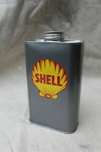 Vintage 1 Litre Oil Can - Shell