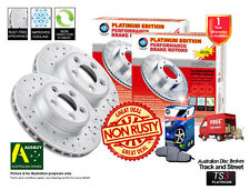 FORD Falcon EF EL 299mm Slotted & Drilled REAR Disc Rotors (2) & Brake Pads (1)