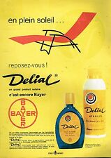 I- Publicité Advertising 1961 La Crème solaire Delial par De Saisset
