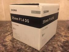 Sigma 35mm F1.4 DG HSM 'a' Art Lente En Nikon AF Fit Nuevo Y En Caja