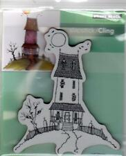 New Penny Black RUBBER STAMP HALLOWEEN free us ship HAUNTED HOUSE OF CROWS