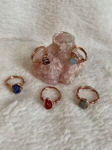 Handmade Crystal Gemstone Wire Ring