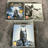 Batman Arkham Asylum + City & Origins PS3 PlayStation 3 Game Bundle DC Action