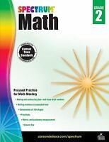 Spectrum Math Workbook, Grade 2  (ExLib, NoDust)