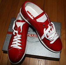 AUTHENTIC! $590 PRADA ROSSO CALZATURE DONNA NAPLAK SNEAKERS sz 40.5eu/ 10US