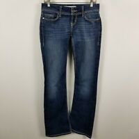BKE Denim Buckle Stella Boot Cut Womens Dark Wash Blue Jeans Size 27x31.5