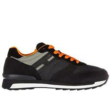 HOGAN REBEL R261 Sneakers Uomo EU 45.5 UK 11 Suede Nero - HO-057 Listino 4593cc8b4bd