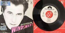 "Bryan Ferry – Windswept / Crazy Love Japan 7"" Vinyl Promo 7DM 0154"
