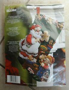 "BUCILLA ""Christmas Cookies"" 18"" Felt Stocking kit model 86106, NIP - Sweet!"