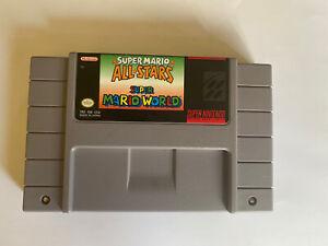 Super Mario All-Stars + Super Mario World (Super Nintendo Entertainment System,…