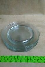 "Vintage lot of 8, 14"" Clear Glass SERVING PLATES MSE No Pattern"