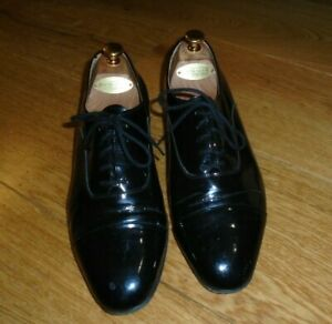 Rembrandt Mens Black Patent Leather Lace up Dress Tuxedo Shoes 9.5 / 43.5