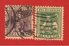 Switzerland #B7-B8  VF used  Semi-Postal  Free S/H