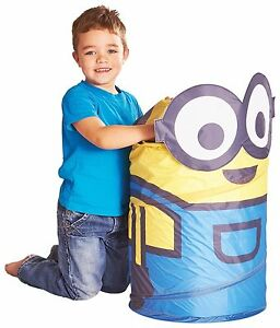 MINIONS POP UP STORAGE BIN FOR TOYS OR CLOTHS BRAND NEW