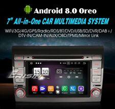 "AUTORADIO 7"" Android 8.0 Octa Core 4gb Fiat Bravo Navigatore Gps Wifi Bluetooth"