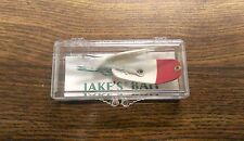 Antique Collectable Vintage New in Box JAKE'S BAIT Fishing Lure - White & Red