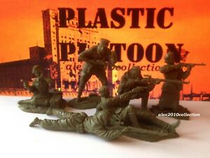 NEW!!! PLASTIC PLATOON, SNIPER GROUP, RED ARMY, 6 rubber soldiers 1:32