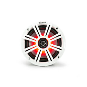 """KM Marine 6.5"""" (165 mm) Coaxial Speaker with White & Charcoal LED Grills (Pair)"""