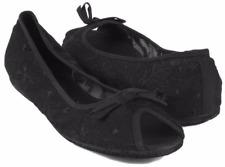 New REPORT Women Black Mesh Flat Casual Slip On Slipper Sandal Shoe Sz 6 M
