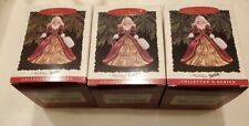 Lot of 3 Hallmark Holiday Barbie Ornaments 1996 Collector's Series #4 - New