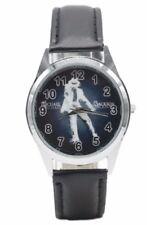 Michael Jackson Black Genuine Leather Band Wrist Watch