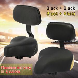 "Bicycle Saddle Large Size Comfort Beach Cruiser Bike Seat Black 12/"" x 12/"""