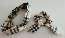 Coppia Fasce Elastiche per Capelli donna Handmade Burberry