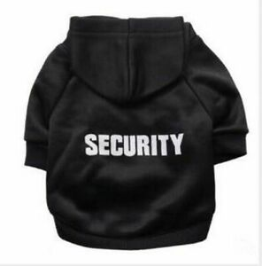 Cat Clothes Funny Security Coat Jacket Hoodies For Cats Warm Outfit Cats Costume