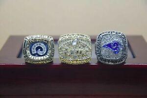 3 Pcs 1979 1999 2018 St Louis Rams Championship Ring //