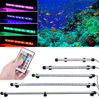 RGB Waterproof Aquarium Fish Tank Lamp LED Submersible Light Bar + Remote