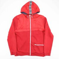 UMBRO Red Hooded Full Zip Sports Track Jacket Men's Size XL