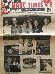 Marc Times Racing News 1972 Bob Senneker and Carl Smith cover