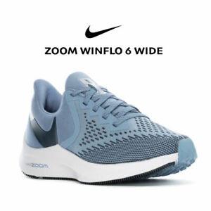 Nike Air Zoom Winflo 6 Wide Women's Running Shoe BQ3192 Blue Grey size 8 9 10