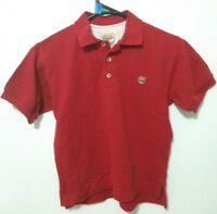 Timberland Polo Shirt Boys Size 8 Red Short Sleeve Collared Kids