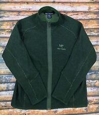 ARC'TERYX Mens Sweater Jacket Hunter Green Wool Blend Fleece Knit Full Zip Sz XL