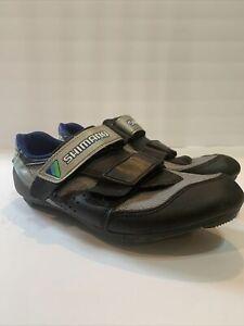 Shimano 2 Bolt Biking/Cycling Shoes Wmn Size 39.5 EU /  US Black/Blue