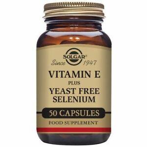 Vitamin E Selenium 50 Capsules - Solgar