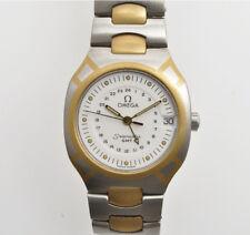 Omega Seamaster Polaris GMT(steel & 18k solid gold)man's quartz watch new unworn