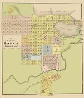 Hastings Minnesota - Andreas 1874 - 23.00 x 26.92