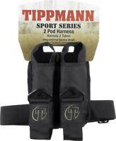 New Tippmann 2 Pod Sport Paintball Harness / Pack - Black