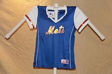 New York NY Mets MLB Fan Fashion JERSEY/Shirt  MAJESTIC Womens Large NWT $40