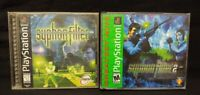 Syphon Filter 1 + 2 - Playstation 1 2 PS1 PS2 Rare 2 Games PSX Lot - Tested