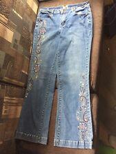 Cross Stitch Denim Blue Jean Capri Pant from Monroe and Main Summer Cruise Sz 8