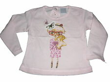 Zara süßes Langarmshirt Gr. 68 rosa mit Mädchendruckmotiv !!