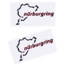 2pcs Silver Chrome Nurburgring Motor Sport Car Emblem Sticker DIY Decal Logo