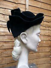 Original Vintage Hat 1930s BLACK Felt Brimless Fitted TURBAN TOQUE CAP HAT