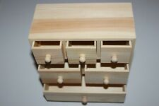 Commode 6 tiroirs miniature en bois taille : 200x200x95mm