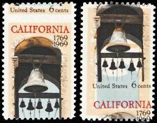 1373, Color Shift & Misperforation ERRORS 6¢ California Mint NH - Stuart Katz