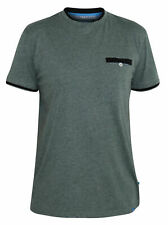 D555 Kingsize Mens Khaki Tshirt With Double Layer Neck & Pocket (NELLY-1)