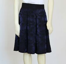 Jacquard Pleated Skirt, Midi Skirt, Pleated Skirt With Pockets, Box Pleats Skirt